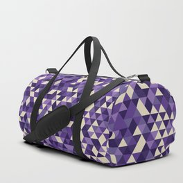 Purple Triangles Duffle Bag