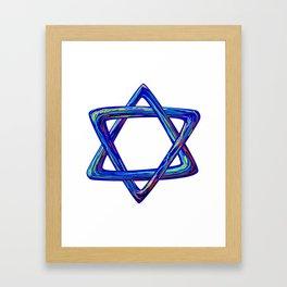 Shield of David. Star of David Framed Art Print