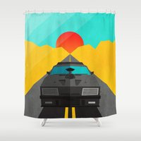 mad max Shower Curtains featuring Max is Mad by Bakus