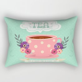 Tea Is A Hug In A Cup Rectangular Pillow