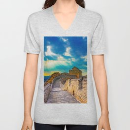 Simatai West Great Wall Unisex V-Neck