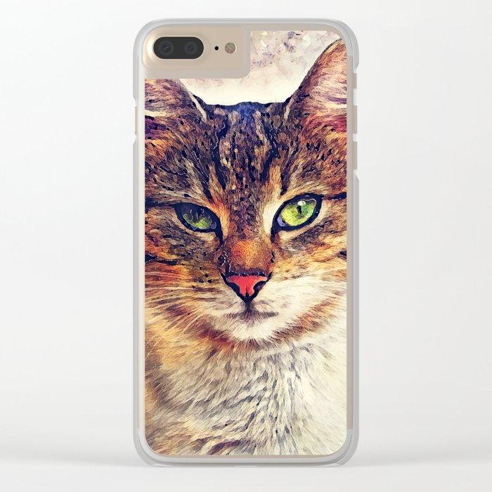 Cat Saba Clear iPhone Case