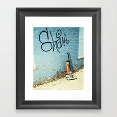Urban street cleaner Framed Art Print