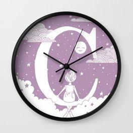 Lilac C Wall Clock