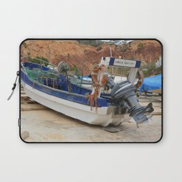 Fishing boat on the beach Laptop Sleeve