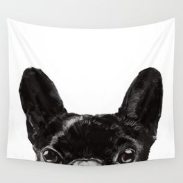 Peeking French Bulldog Wall Tapestry