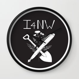 Shovel and Pen Wall Clock
