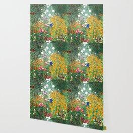 "Gustav Klimt ""Blumengarten (Flower Garden)"" Wallpaper"