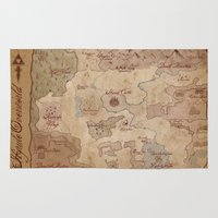 hyrule Area & Throw Rugs featuring Map of Hyrule- Legend of Zelda by Kaz Palladino & Awkward Affections