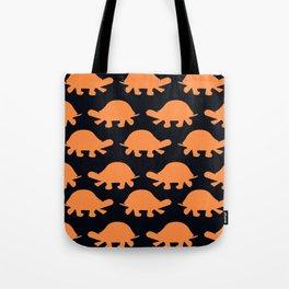 Turtles Orange Tote Bag