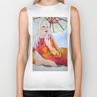 tequila Biker Tanks featuring Tequila Sunrise by Geraldine Warrior