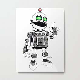 Clickety Clank Metal Print