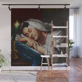 """""""Come Softly To Me"""" Portrait Painting by Jeanpaul Ferro Wall Mural"""