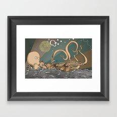 Tireless Octopus Framed Art Print