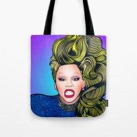 rupaul Tote Bags featuring RUPAUL by Alli Vanes