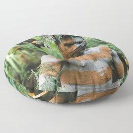 Papua New Guinea Villager Floor Pillow