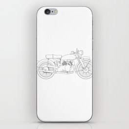 Motor Cycle Outline iPhone Skin