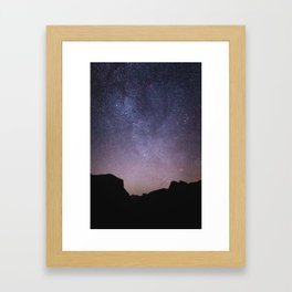 Yosemite Night Sky Framed Art Print