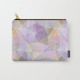 Pink, lilac, orange polygon Carry-All Pouch