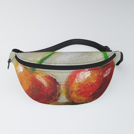 Cherries. Oil painting. Fanny Pack