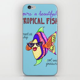 Leslie Knope Compliments: Tropical Fish  iPhone Skin