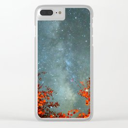Fall Stars Clear iPhone Case