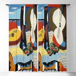 Pablo Picasso Mandolin and Guitar Blackout Curtain