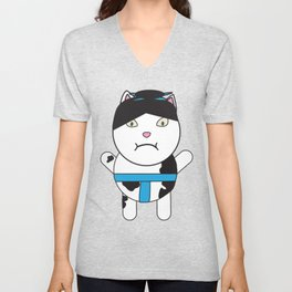 Sumo Kitty Unisex V-Neck