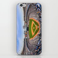 yankees iPhone & iPod Skins featuring New York Yankees - Color by Bust it Away Photography