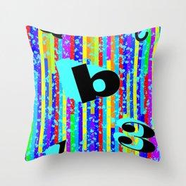 abc.123 Throw Pillow