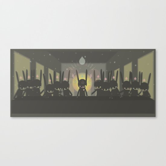 THE LAST  SUPPER [Leonardo Paul Pierro-vinci ] - IN THE NAME OF RABBIT Canvas Print