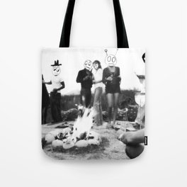 An Uncomfortable Time Around the Campfire Tote Bag