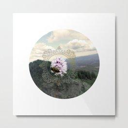 Ancient Dance Bee Mountain Bees Wildflower Metal Print