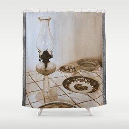 Still life on basalt Shower Curtain
