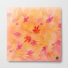 Citrus Cannabis Swirl Metal Print