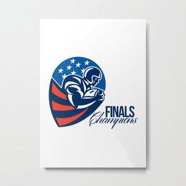 American Football Finals Champions Retro Metal Print