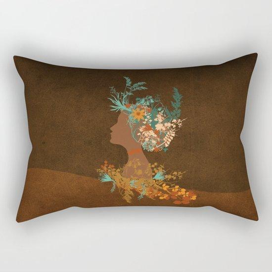 Mujer floral Rectangular Pillow