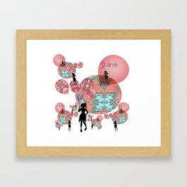Balloon Girl Cosmic Interlude Surrealism Framed Art Print