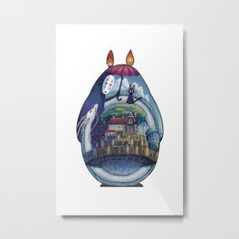 Ghibli stories Metal Print