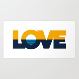LOVE - People's Flag of Milwaukee Art Print
