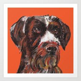 Hunting dog, printed from an original painting by Jiri Bures Art Print