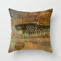 spawn Throw Pillows featuring 鯉 幟 (The Koinobori) by Fernando Vieira
