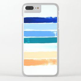 Beach Stripes Clear iPhone Case