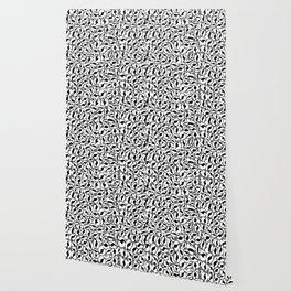 Leopard Print   black and white monochrome   Cheetah texture pattern Wallpaper