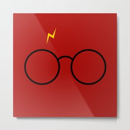 Harry Glasses - Potter Magic Design Metal Print