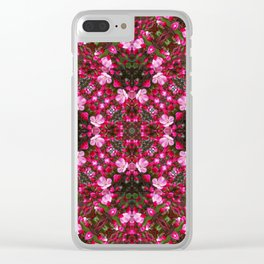 Spring blossoms kaleidoscope - Strawberry Parfait Crabapple Clear iPhone Case