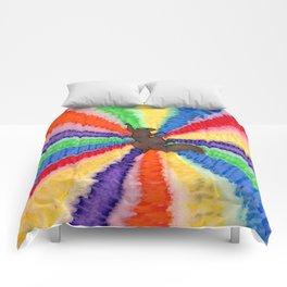 pinwheel squirrel Comforters