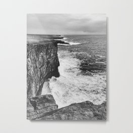 Irish Cliffs Metal Print