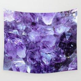 Amethyst Crystals Wall Tapestry