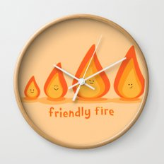 Friendly fire Wall Clock